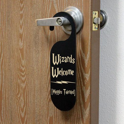 door knob sign photo - 9