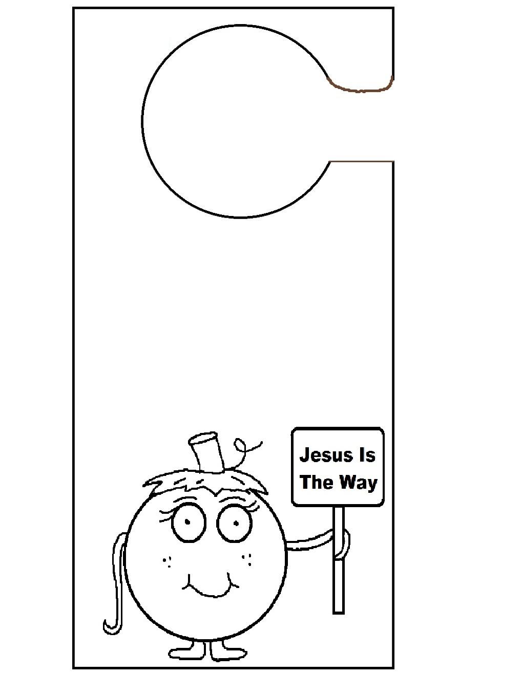 door knob sign template photo - 9