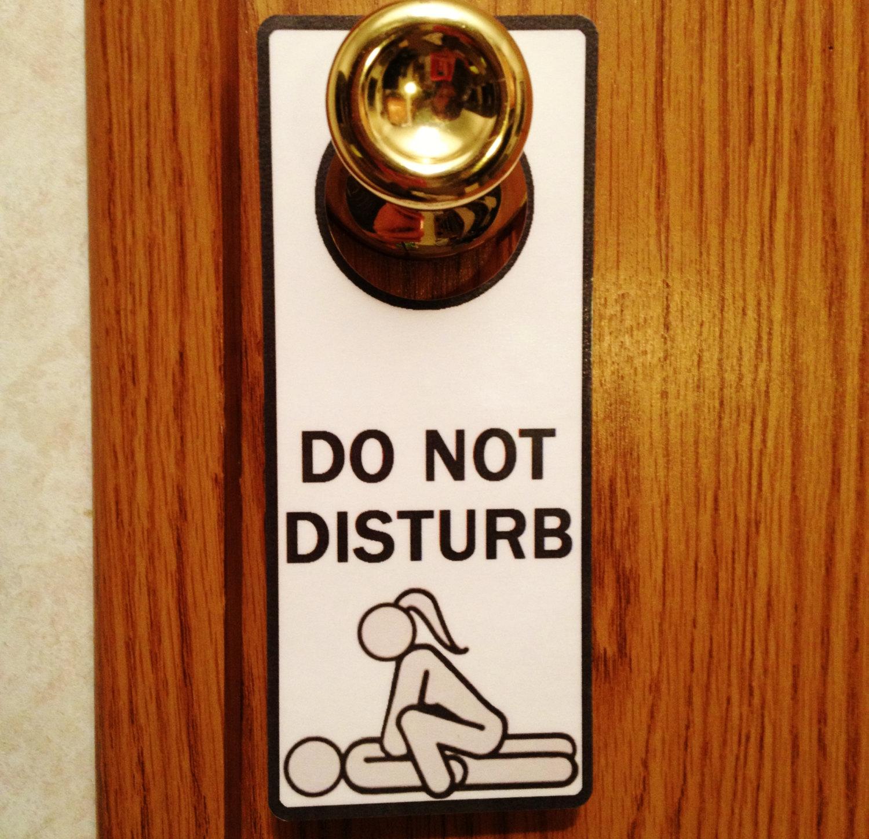 door knob signs photo - 12