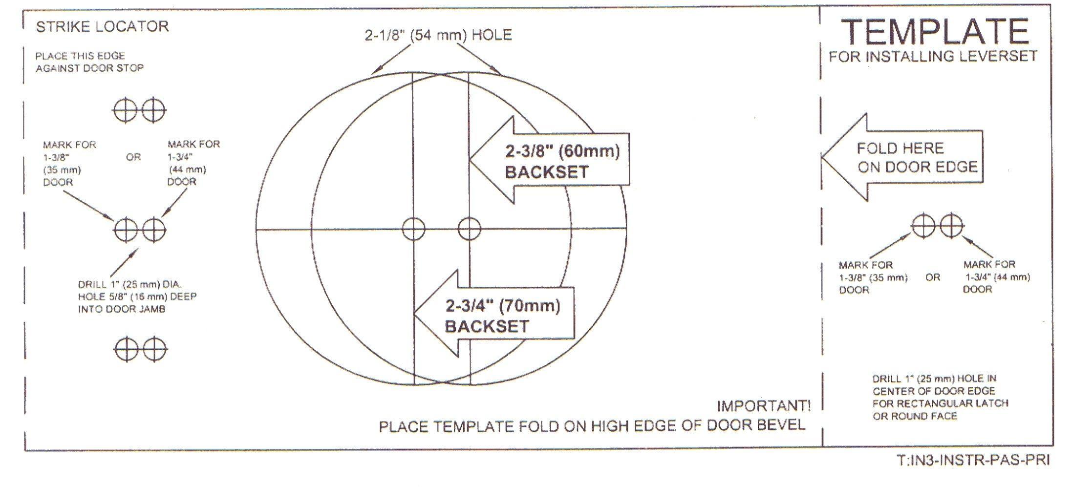 door knob template photo - 4
