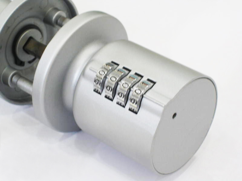 door knob with combination lock photo - 1