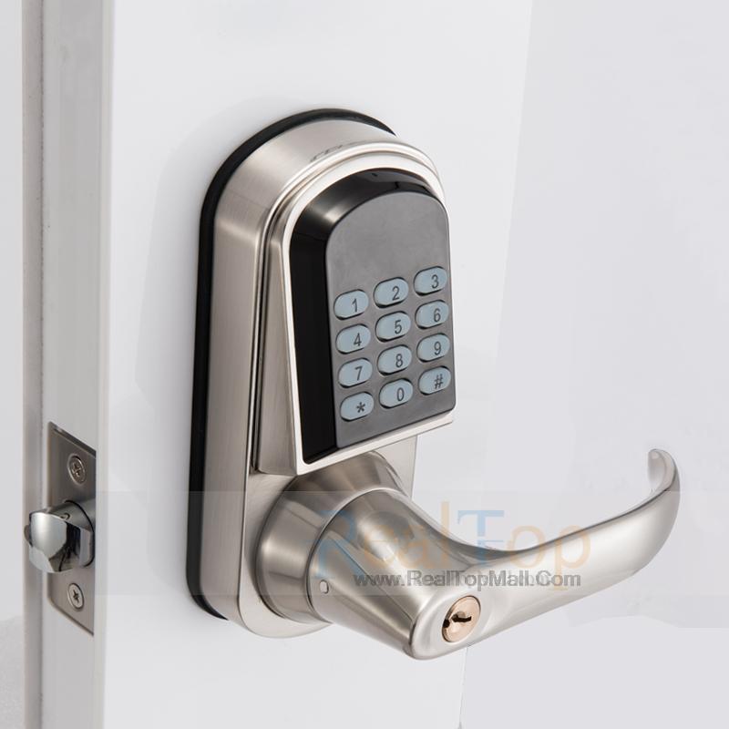 door knob with combination lock photo - 17
