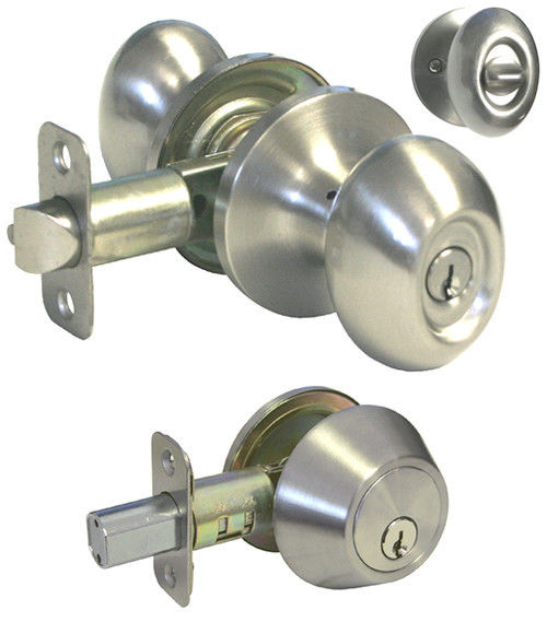door knob with combination lock photo - 18