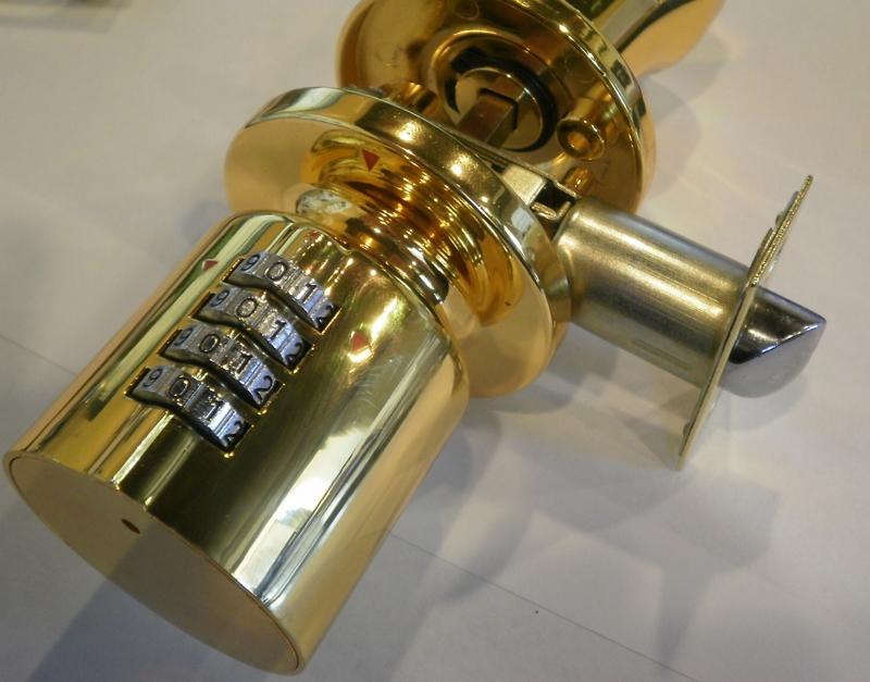 door knob with combination lock photo - 3
