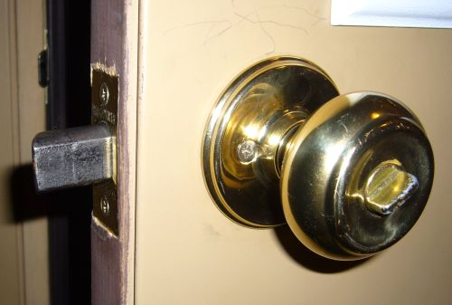 door knob with deadbolt built in photo - 1