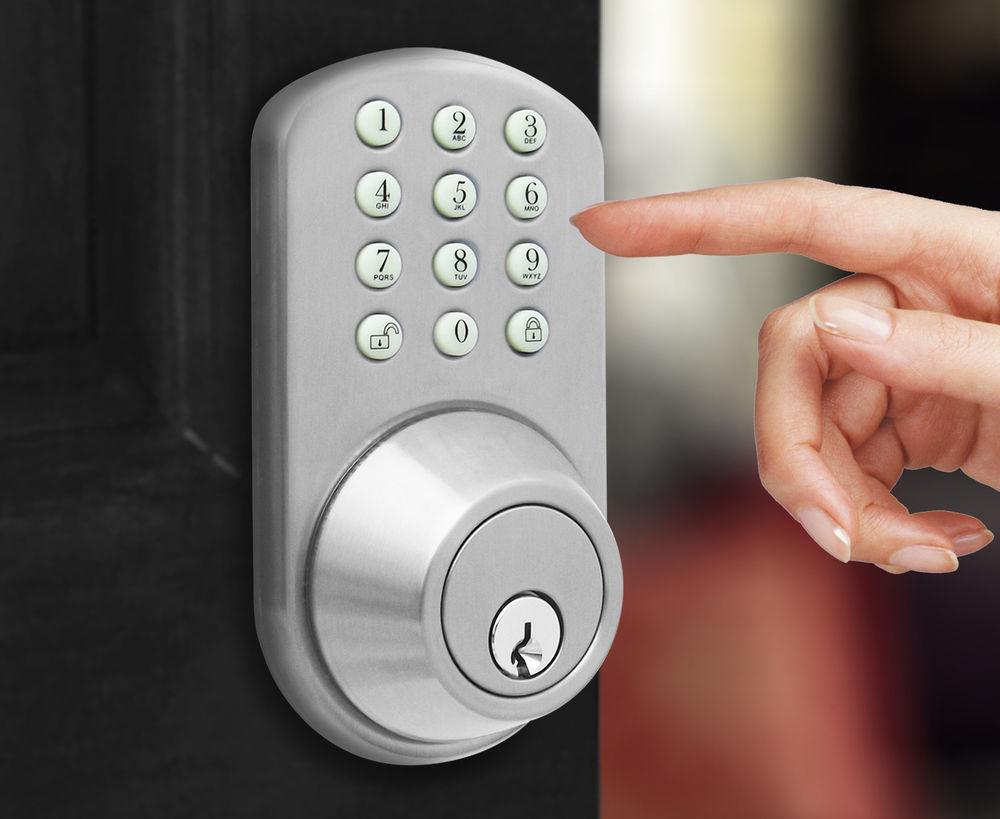 door knob with keypad photo - 11