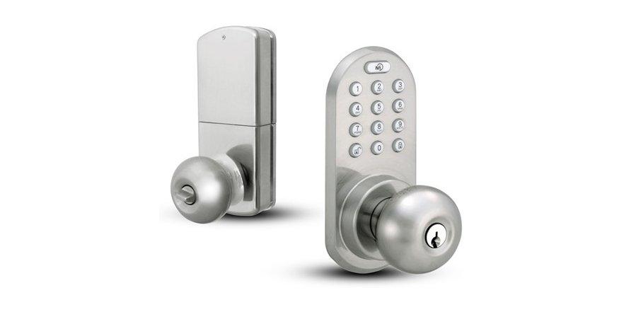 door knob with keypad photo - 16