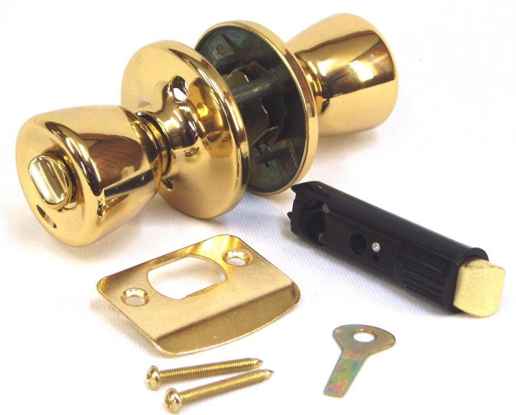 door knob with lock and key photo - 5