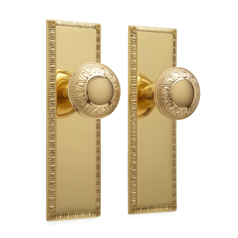 door knob with plate photo - 12