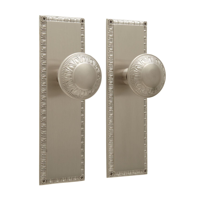 door knob with plate photo - 17