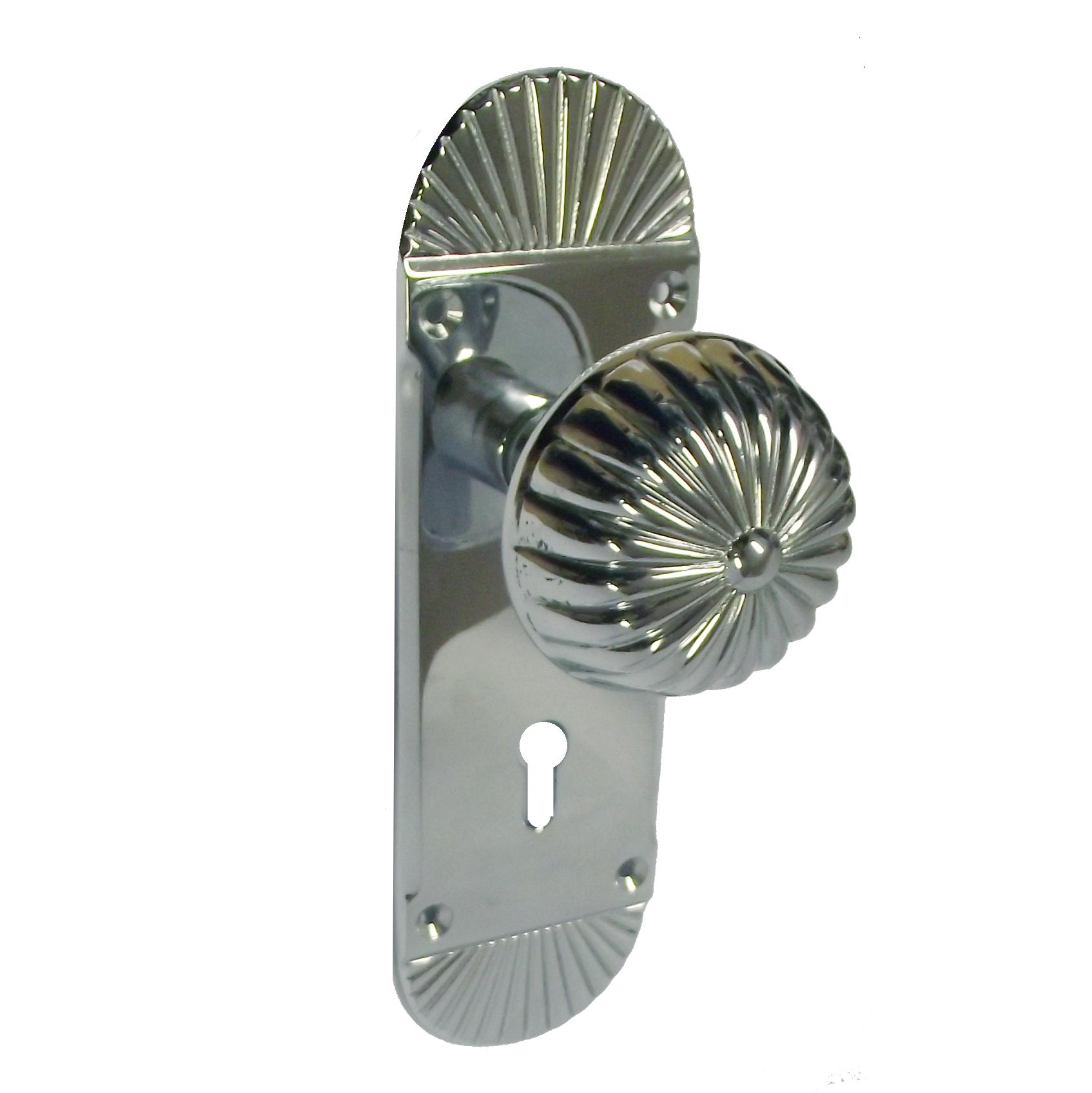 door knobs on backplate photo - 13