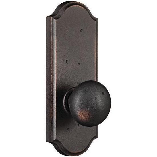 door knobs on backplate photo - 2
