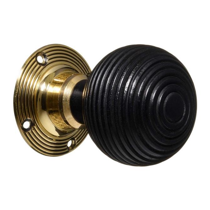 ebonised door knobs photo - 10