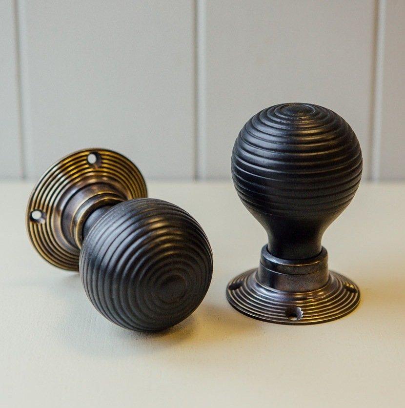 ebonised door knobs photo - 8