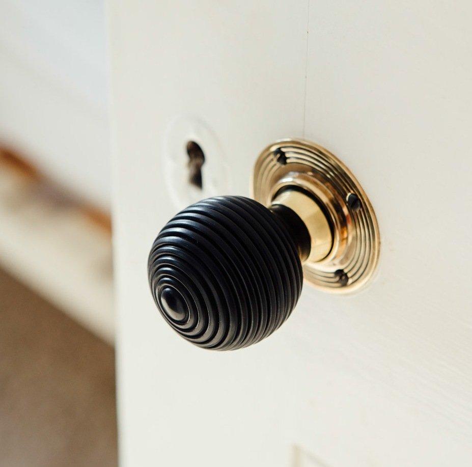 ebony door knobs photo - 11