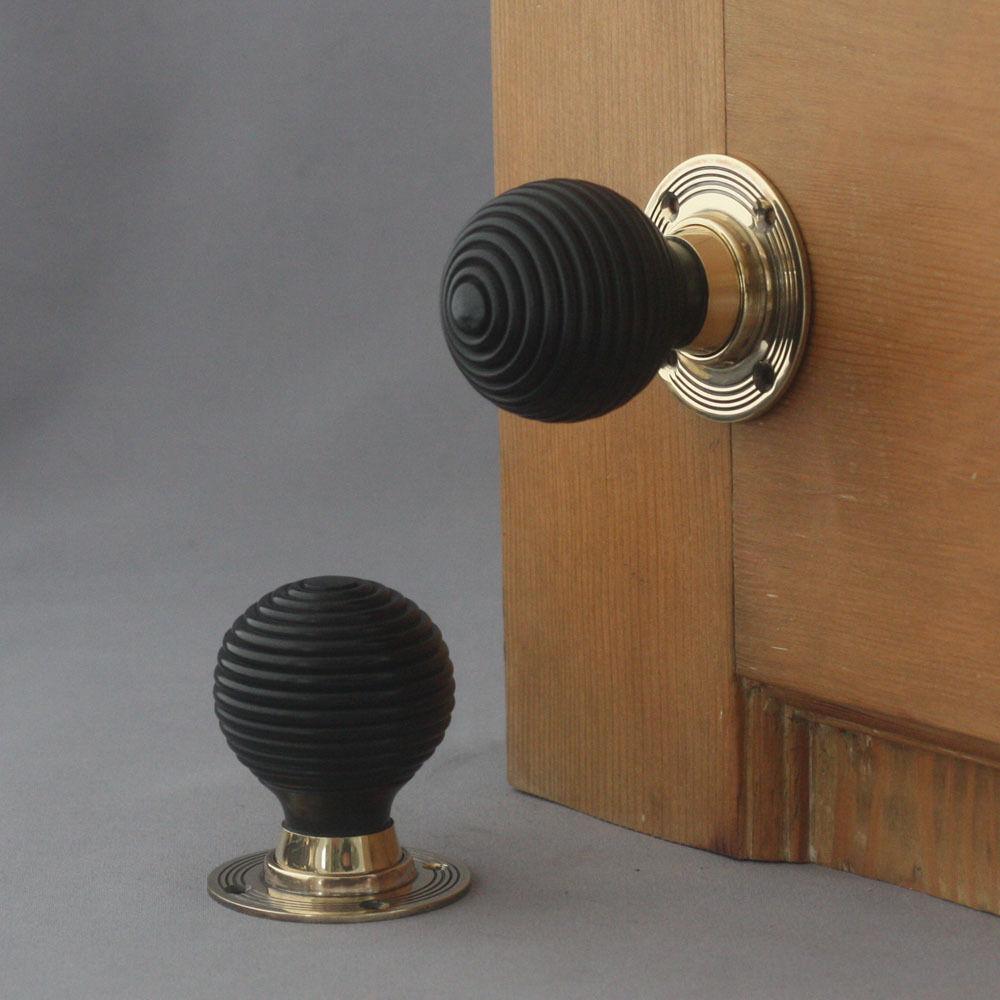 ebony door knobs photo - 12
