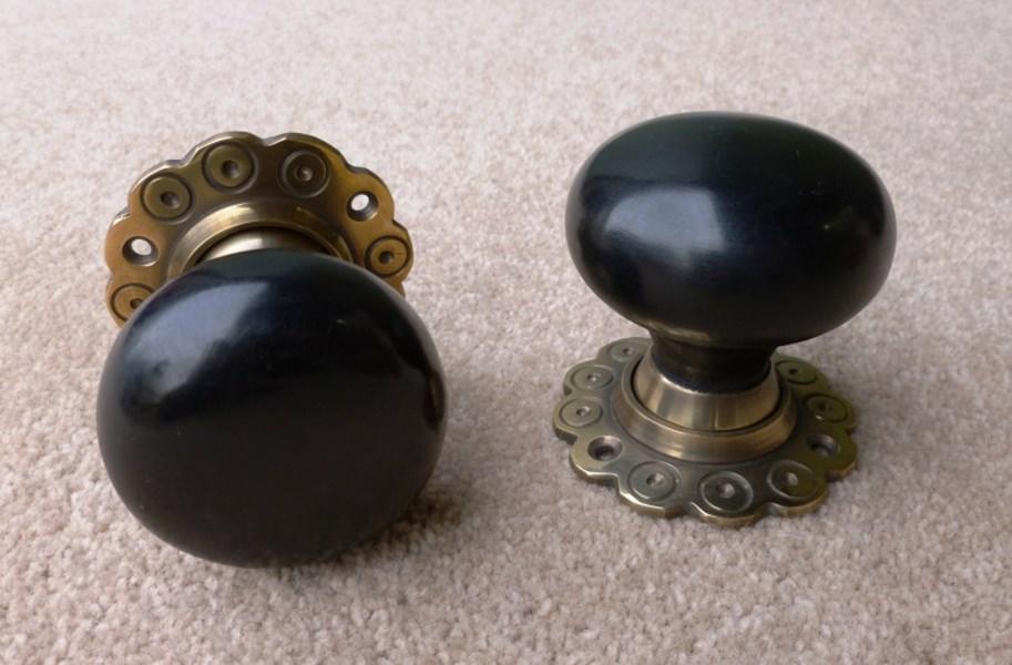ebony door knobs photo - 14