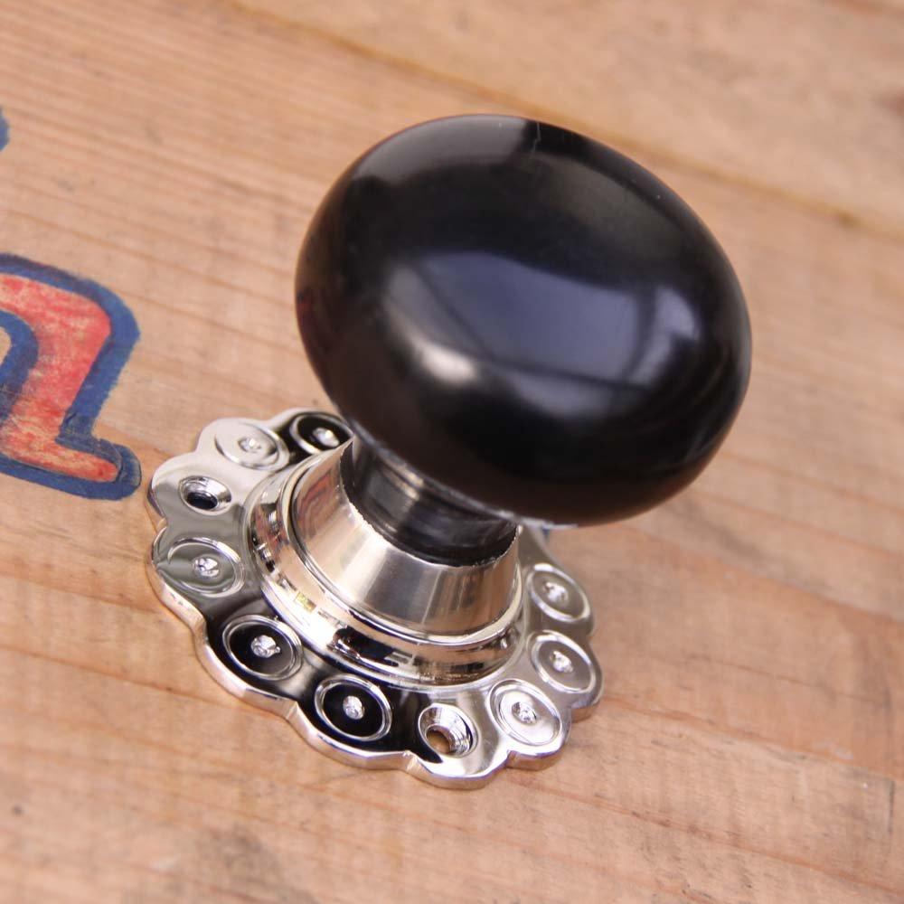 ebony door knobs photo - 5