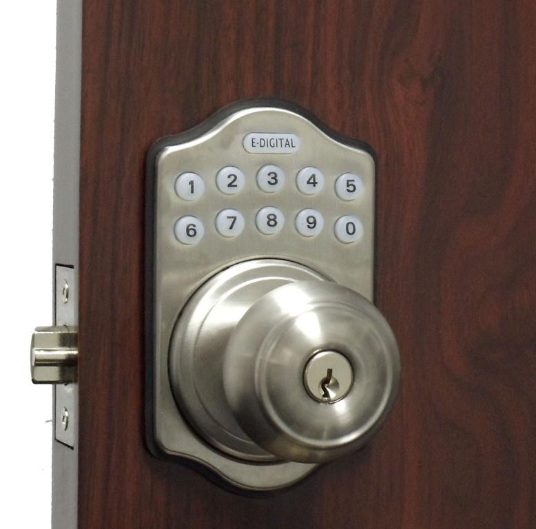 electronic door knob lock photo - 1