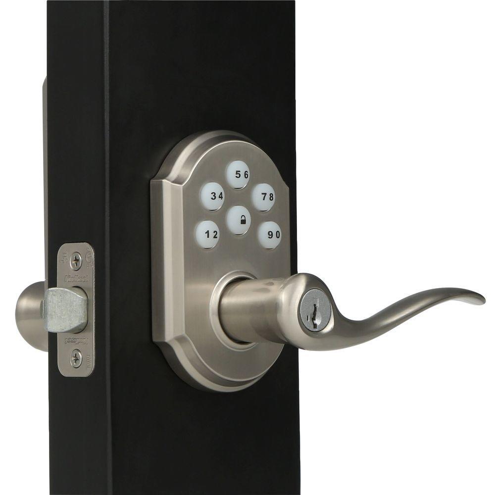 electronic door knob lock photo - 16