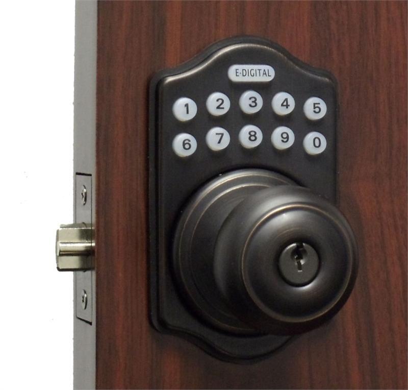 electronic door knob lock photo - 3