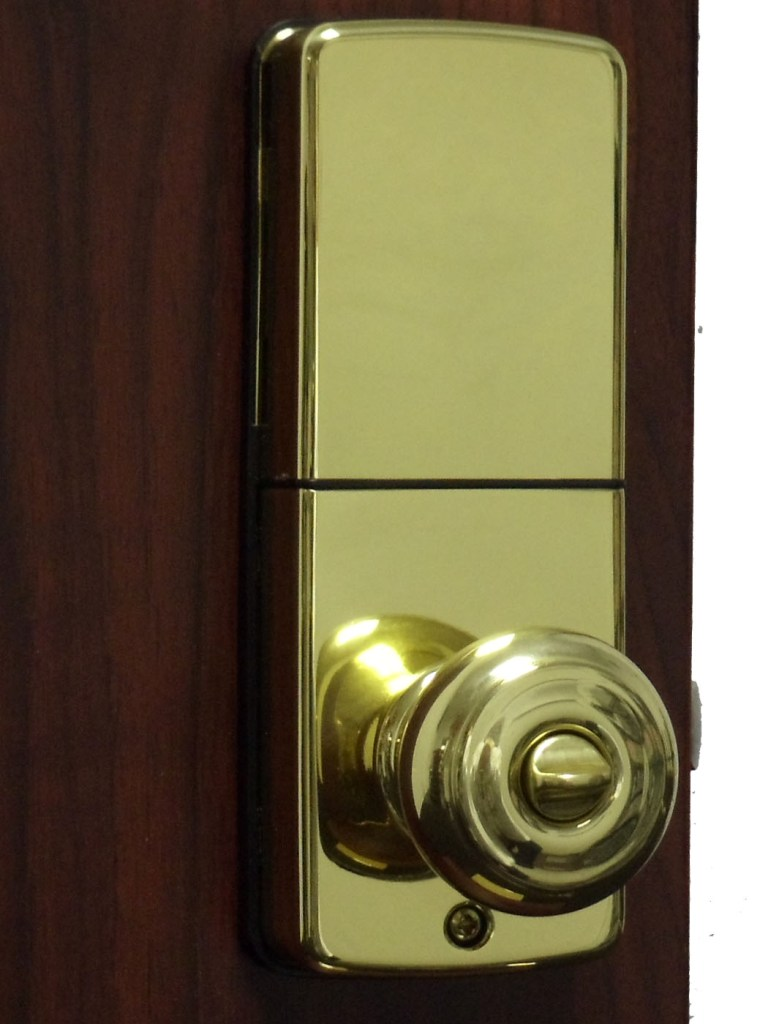 electronic door knob lock photo - 6