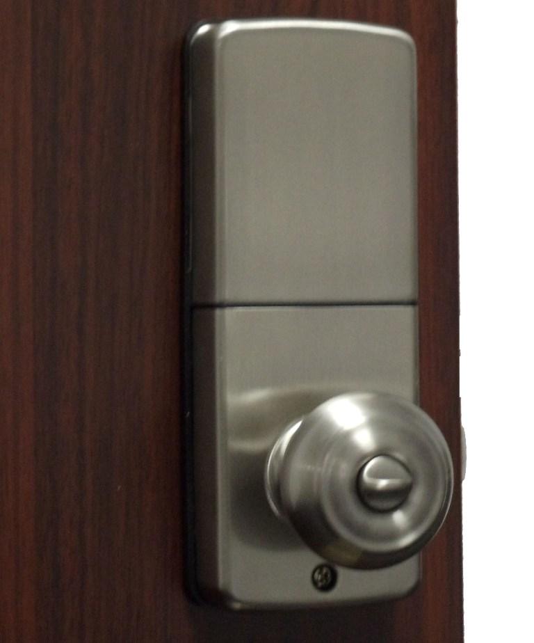 electronic door knob lock photo - 8