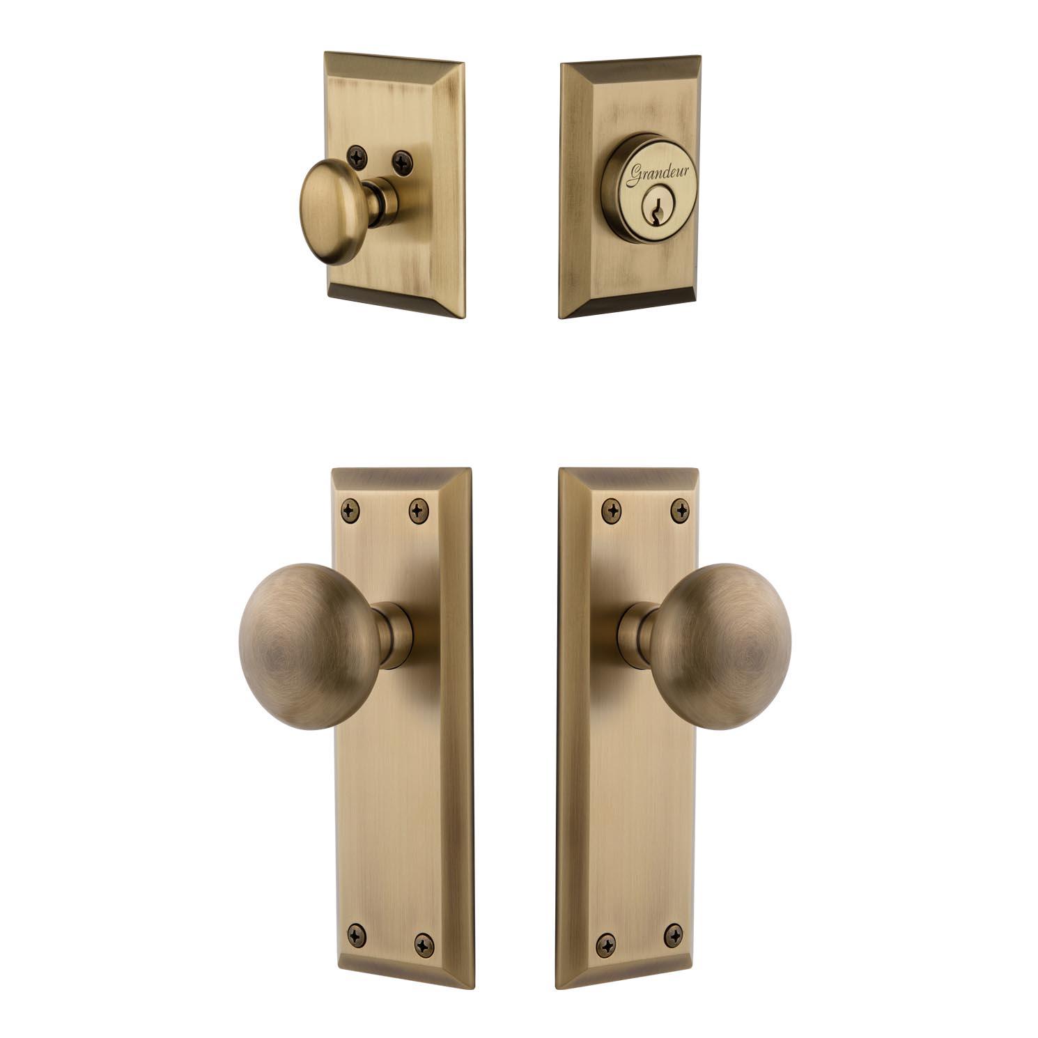entry door knob with deadbolt photo - 12