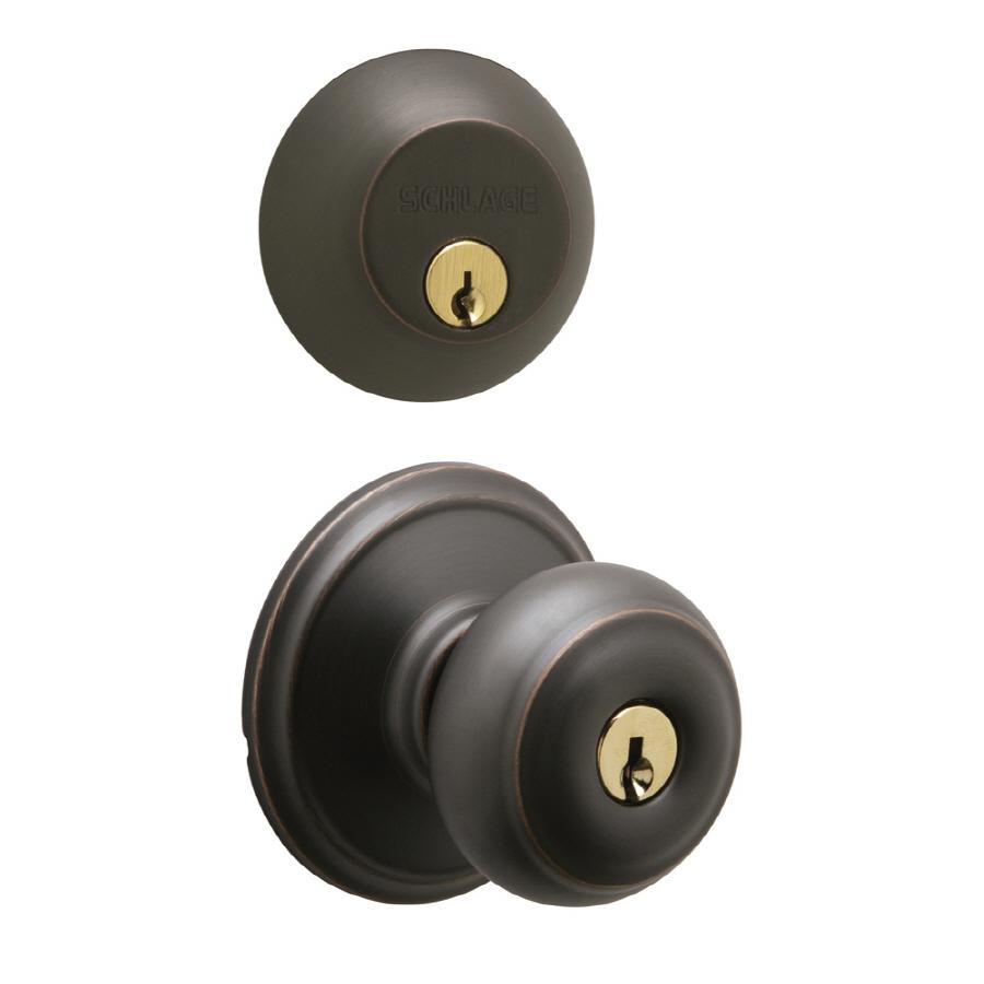 entry door knob with deadbolt photo - 6