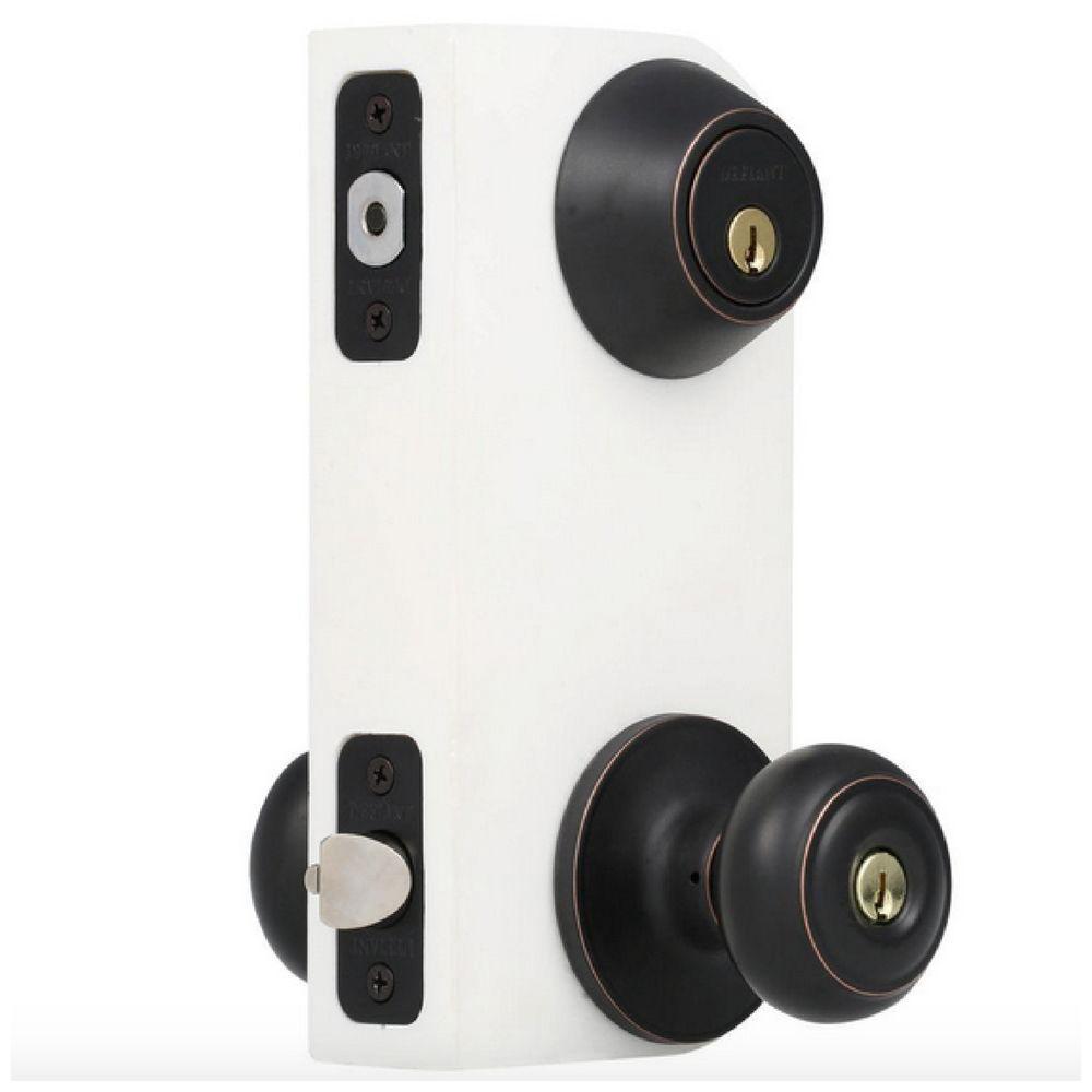 entry door knob with deadbolt photo - 8