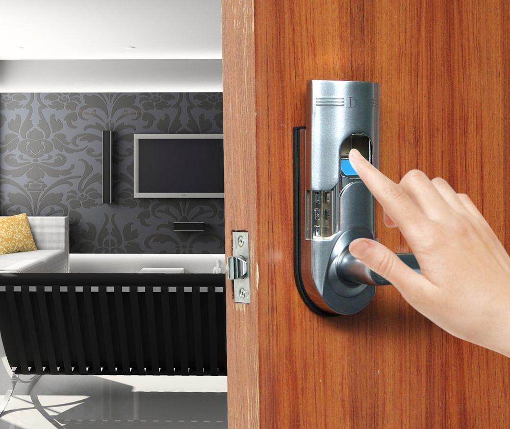 fingerprint door knobs photo - 14