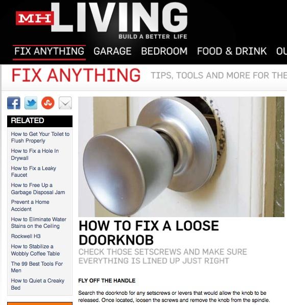 fixing loose door knob photo - 16