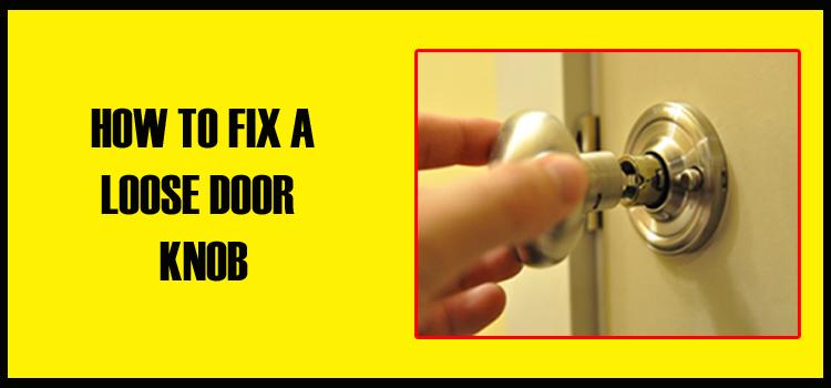 fixing loose door knob photo - 2