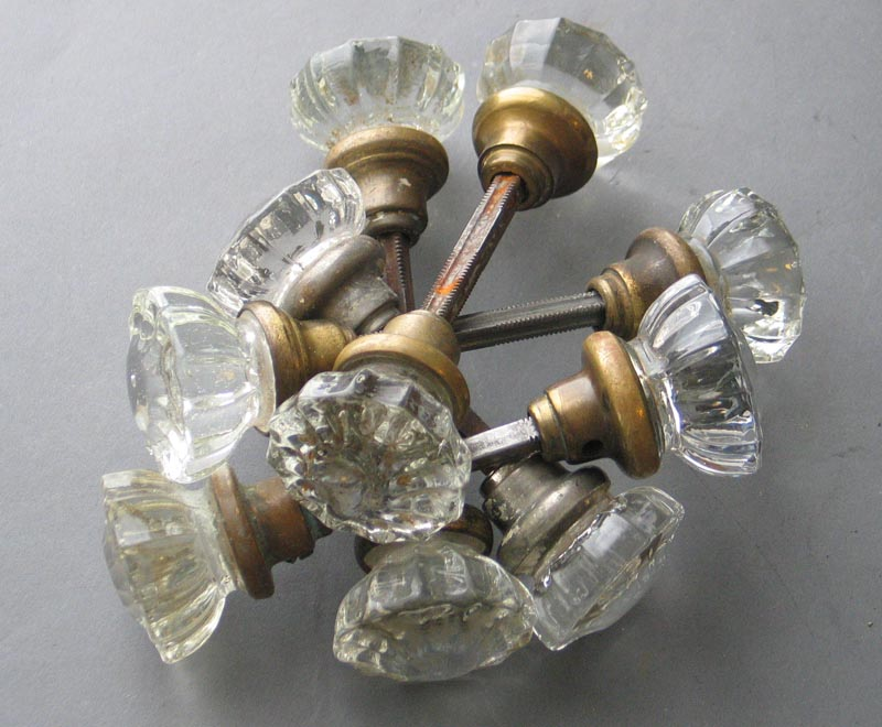 fluted glass door knobs photo - 13