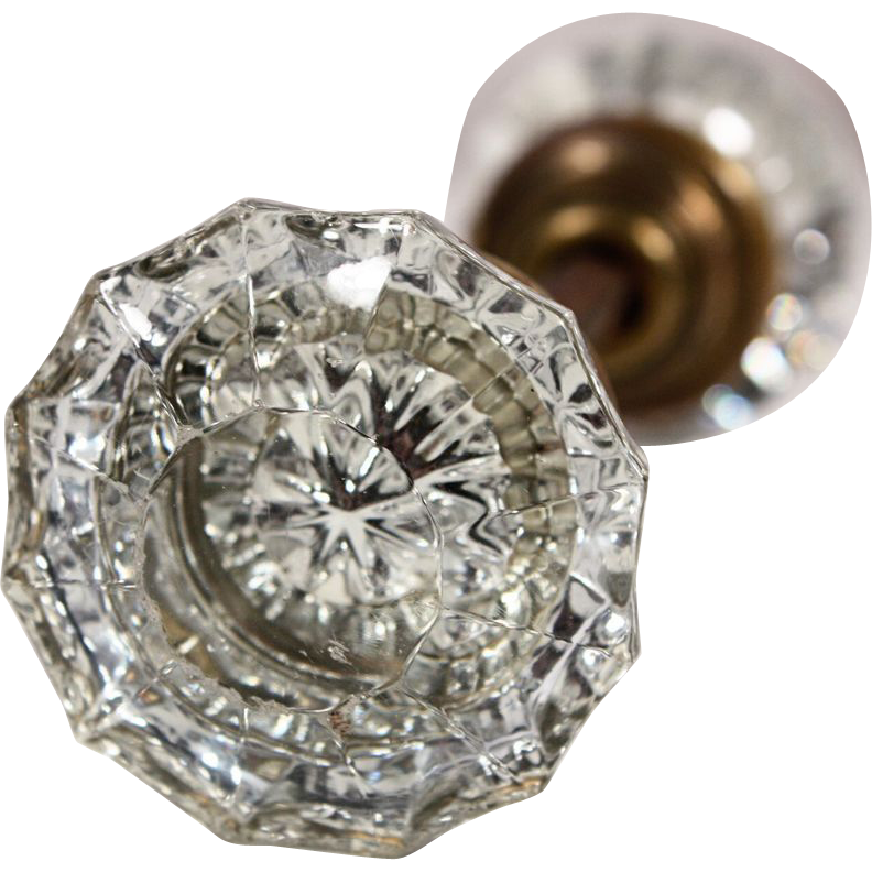 fluted glass door knobs photo - 4