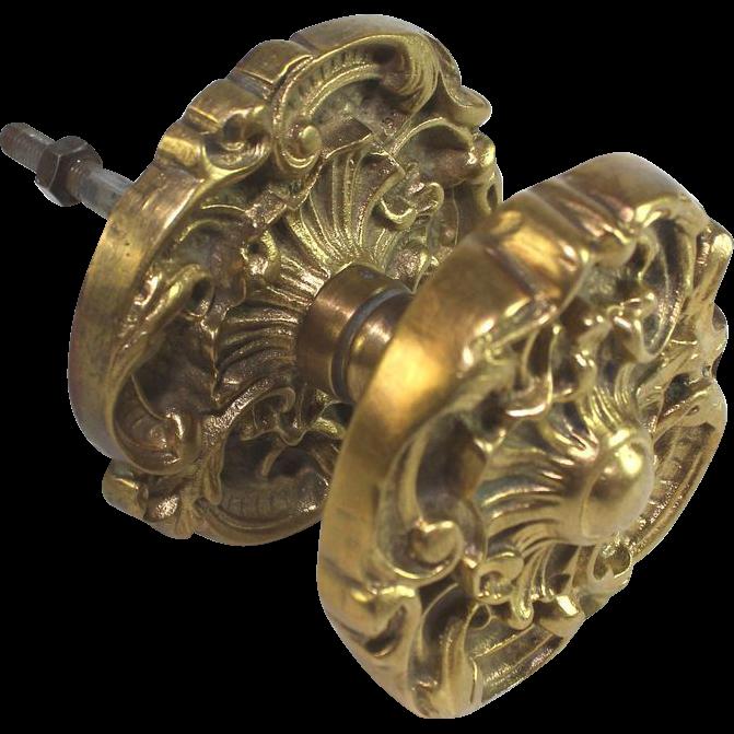 gilded door knob photo - 1