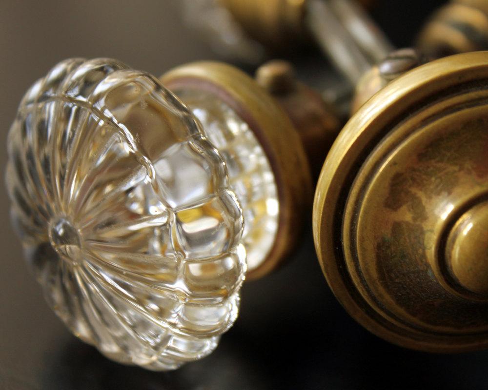 glass antique door knobs photo - 17