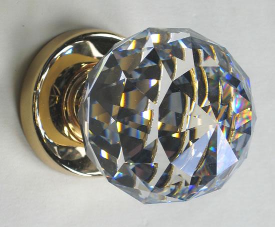 glass crystal door knobs photo - 16