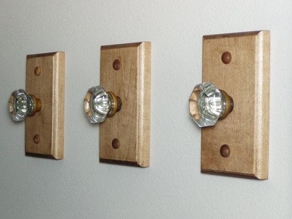 glass door knob hooks photo - 6