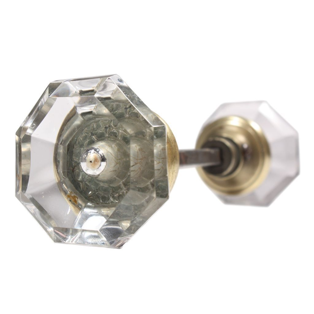 glass door knob set photo - 12