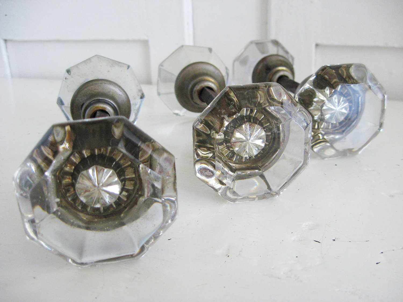 glass door knob set photo - 5