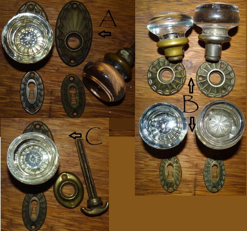 glass door knob sets photo - 6