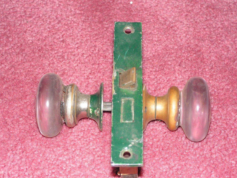 glass door knob with lock photo - 15