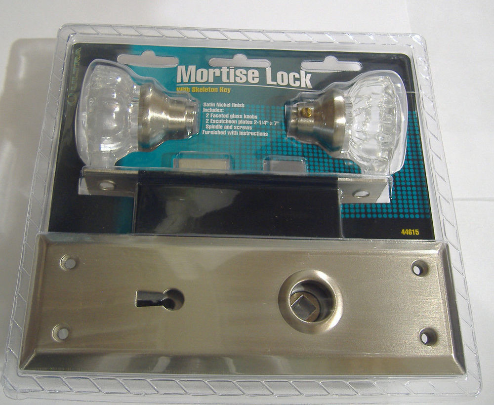 glass door knob with lock photo - 2