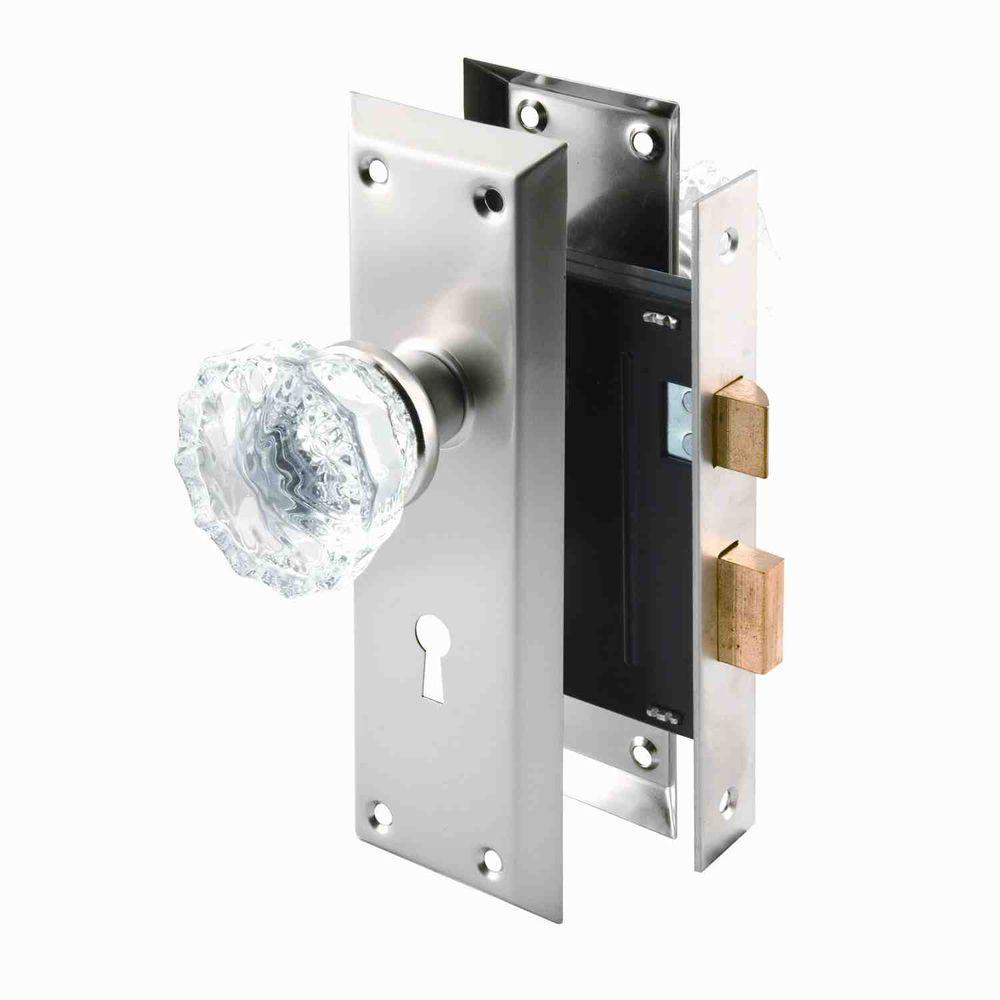 glass door knob with lock photo - 4