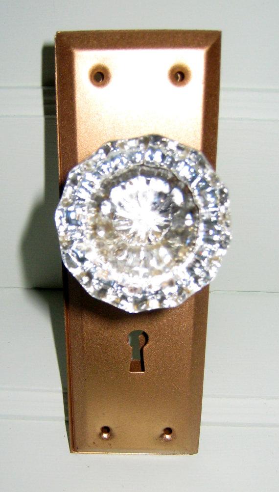 glass door knob with lock photo - 8