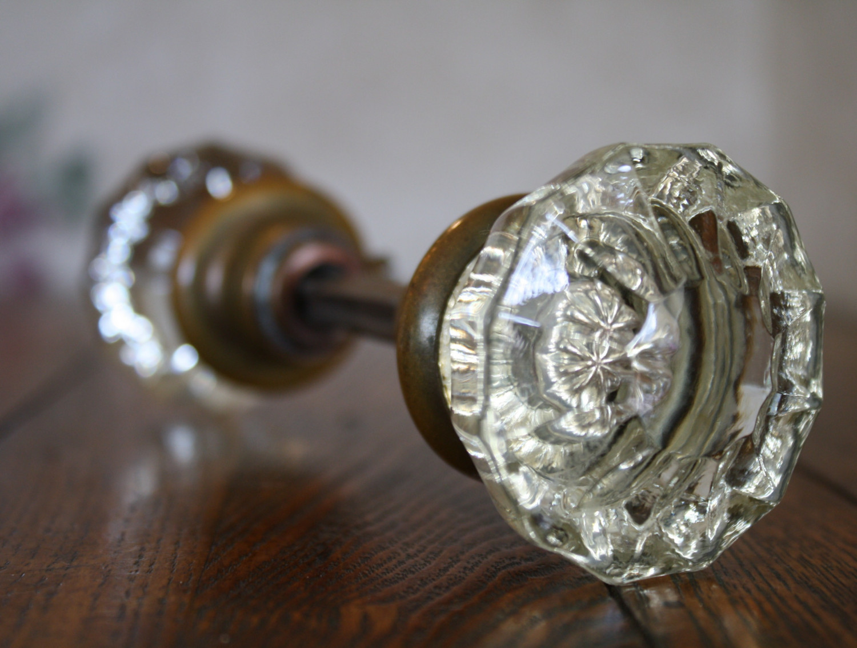 glass door knobs antique photo - 13