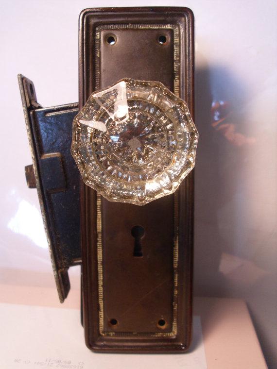 glass door knobs with lock photo - 1