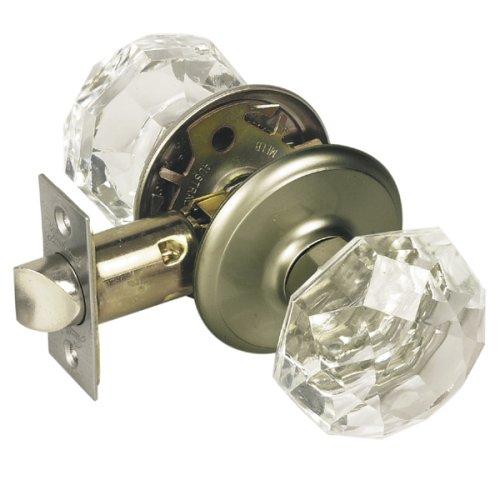 glass door knobs with lock photo - 2