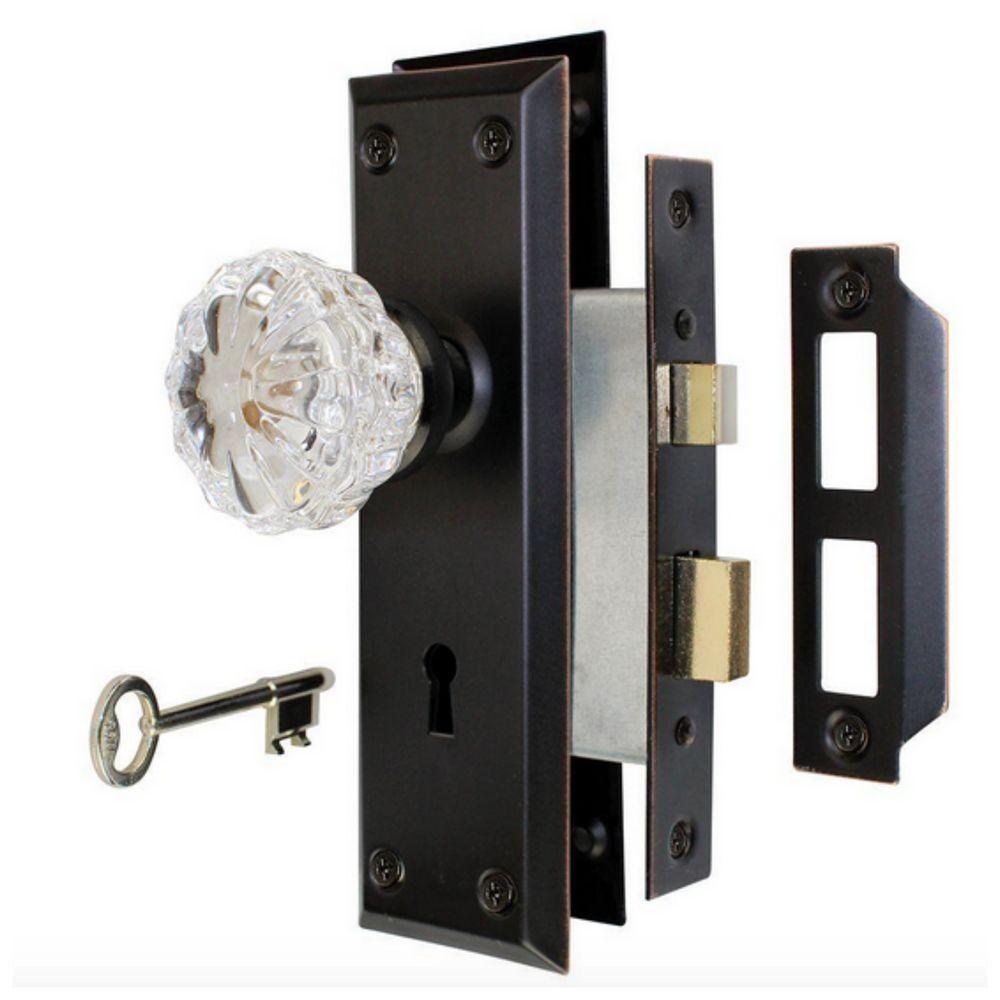 glass door knobs with lock photo - 4